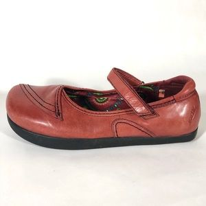 Earth Shoes Mary Janes Red Comfort Rosso 11B
